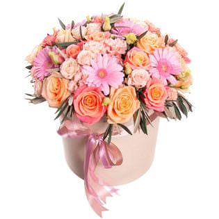 Цветы в коробке «Креатив»