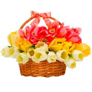 Цветы в корзинке «Дуэт»
